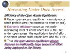 harvesting under open access1
