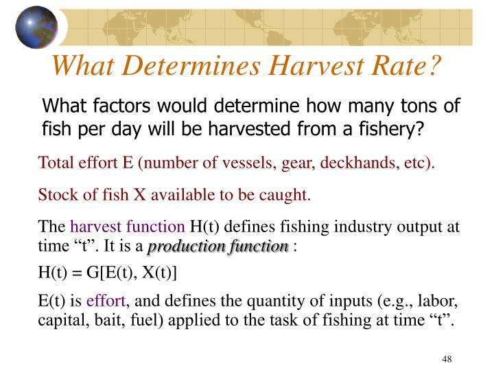 What Determines Harvest Rate?