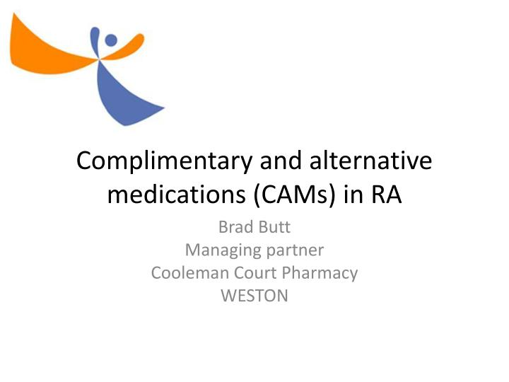 complimentary and alternative medications cams in ra n.