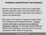predictive model forest tree analysis
