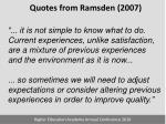 quotes from ramsden 20071