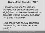 quotes from ramsden 20072