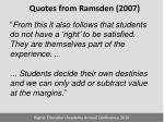 quotes from ramsden 20073