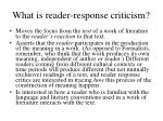 what is reader response criticism