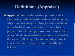 definitions appraisal