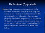 definitions appraisal