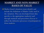 market and non market bases of value1