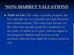 non market valuations