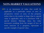 non market valuations11