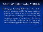 non market valuations14