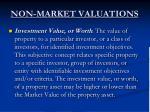 non market valuations2