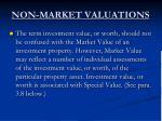 non market valuations3