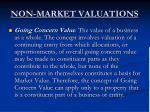 non market valuations4
