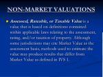non market valuations6