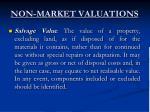 non market valuations8