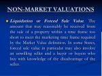 non market valuations9