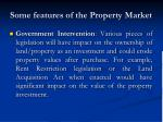 some features of the property market6