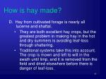 how is hay made4