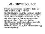 make int resource