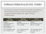 formas personales del verbo