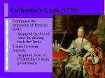 catherine s goals 1770