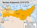 russian expansion 1533 1725