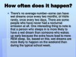 how often does it happen