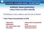 choosing atb based solely on spectrum3