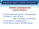 combination therapy to prevent atb resistance