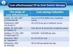 cost effectiveness iv to oral switch therapy