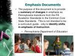 emphasis documents