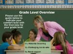 grade level overview