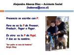 alejandro abarca d az asistente social habarca@ucsc cl