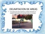 delimitacion de areas
