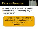 facts on proverbs