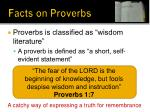 facts on proverbs1