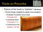 facts on proverbs7