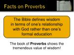 facts on proverbs8