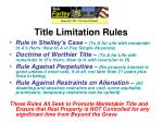 title limitation rules