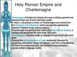holy roman empire and charlemagne