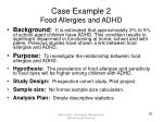 case example 2 food allergies and adhd