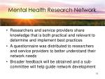mental health research network