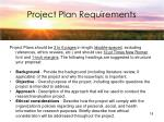 project plan requirements