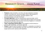 research grants ideas fund
