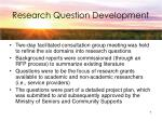 research question development
