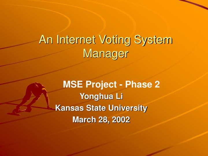 an internet voting system manager n.