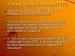 formal technical review ftr
