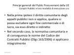principi generali del public procurement della ue compiti pubblici e loro modalit di esecuzione 2 3