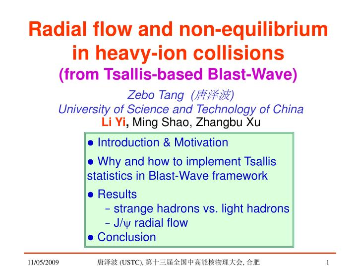radial flow and non equilibrium in heavy ion collisions from tsallis based blast wave n.