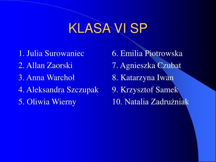 1. Julia Surowaniec